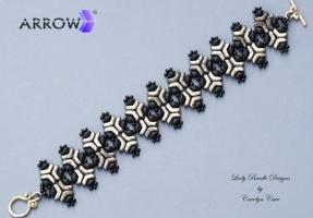 Black and Gold Arrow Bracelet WM
